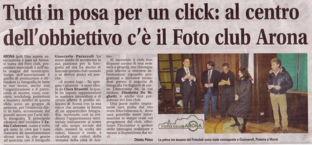 13 Marzo 2011 Serata di presentazione del Foto Club Arona