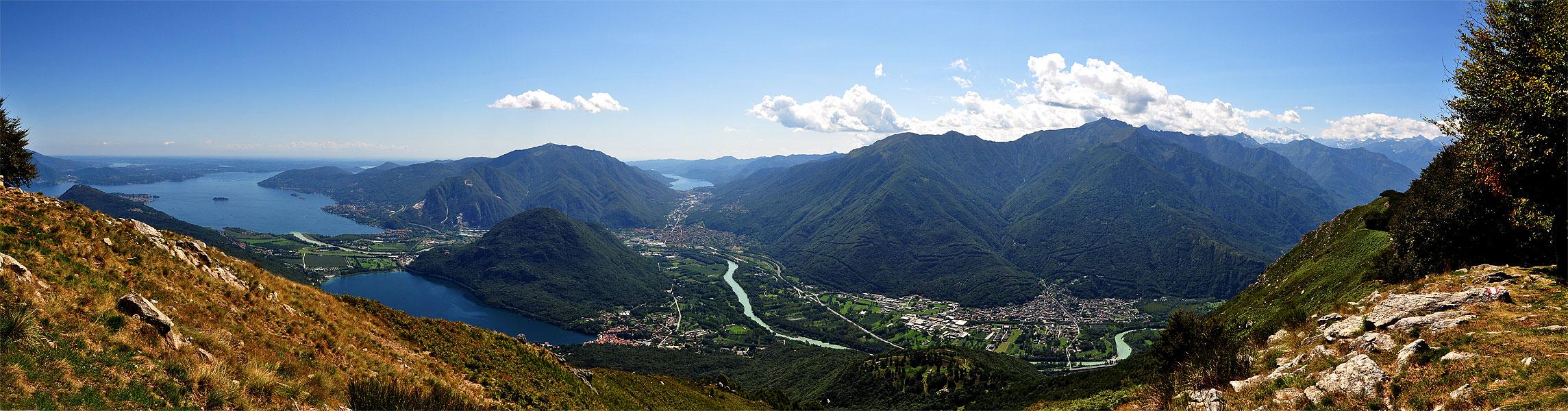 Panoramica dal monte Fajè